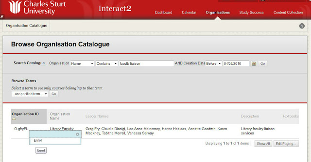 image of the interact 2 library demonstration site