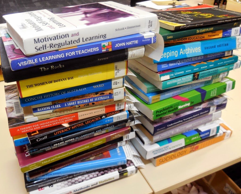 books ready to be posted out to Distance Education students
